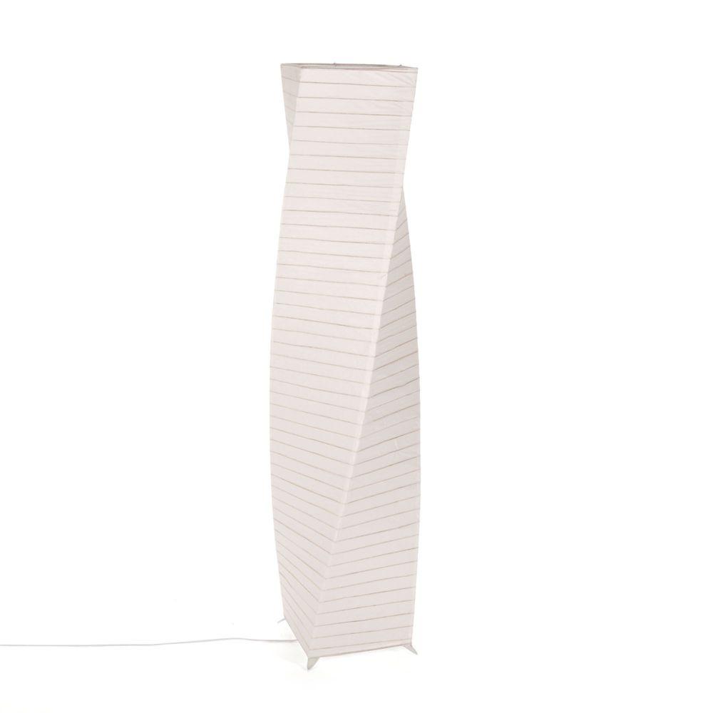 Alinéa - Zip Colonne lumineuse en bois et papier japonais H136cm