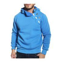 Cincjeans - Cinc Jeans - Sweat bleu roi col montant à capuche