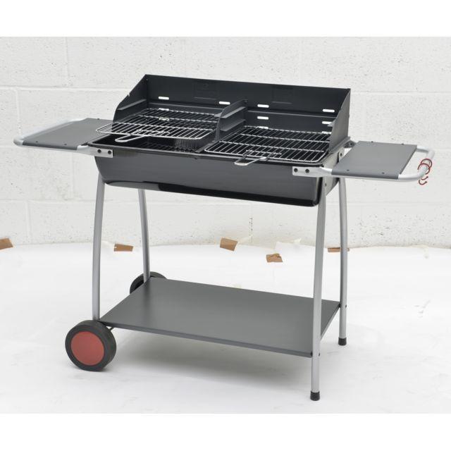 Barbecue au charbon de bois naterial malaga vendu par - Barbecue charbon leroy merlin ...