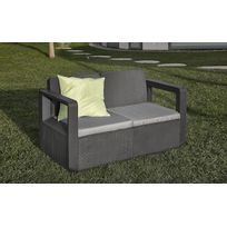 table basse resine tressee gris anthracite - Achat table basse ...