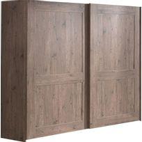 COMFORIUM - Armoire 250x210 cm à 2 portes coulissantes coloris pin écossais
