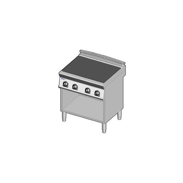 Materiel Chr Pro Fourneau plaque coup de feu électrique de mijotage sur placard - gamme 700 - module 400 - Tecnoinox - 700