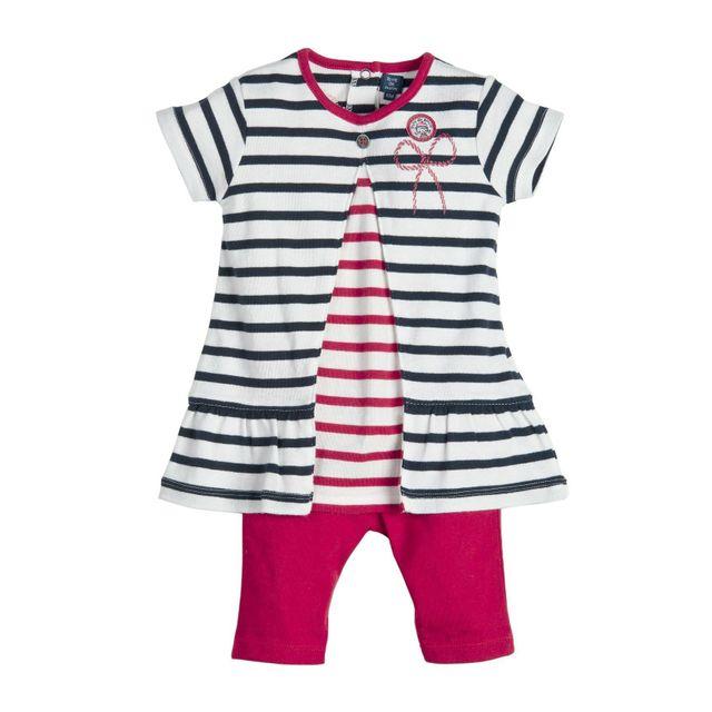 95931c9863f78 Terre De Marins - Ensemble bébé fille robe et legging rouge 23M ...
