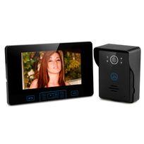 Shopinnov - Interphone audio et vidéo sans fil avec récepteur 7 pouces Vision nocturne