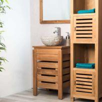 wanda collection meuble zen salle de bain en teck 50 cm