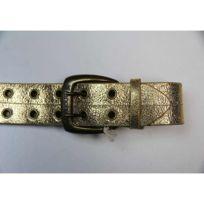 Fenchurch - Ceinture Girl Leather Hampton Gold Cuir