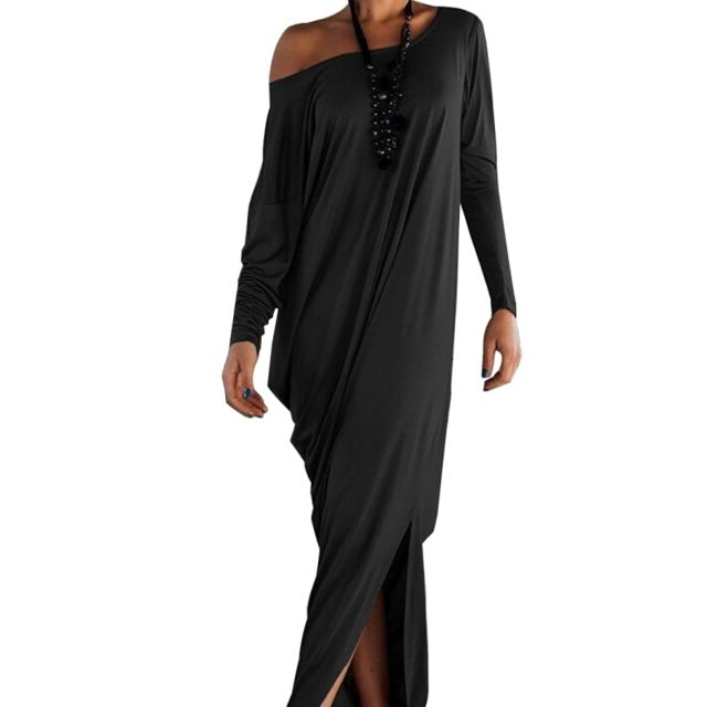Wewoo Solide Robe Femmes Soirée Lâche Sexy De Élégante Femme Formelle noir À Robes Couleur rnrdIqw