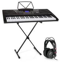ELECTRONIC STAR - Schubert Etude 225 USB Clavier d?apprentissage 61 touches + casque & support