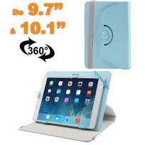 Yonis - Housse universelle tablette 9.7 - 10.1 pouces support 360° bleu