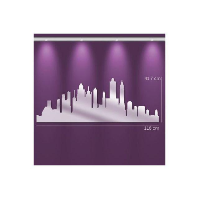 Declikdeco Miroir city Gm argenté en verre Trinity 42 x 115 cm