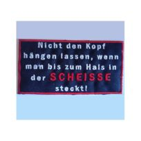 Universel - Patch allemand humour scheisse ecusson themocollant