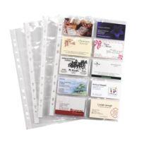 Viquel - Pochette transparente perforée cartes de visite A4 Polypropylène 11/100e incolore - Paquet de 10