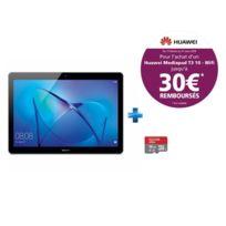 HUAWEI - MediaPad T3 10 - 9.6'' HD IPS - 16 Go - Gris + Carte micro SD Ultra 16 Go100MB/s C10 UHS U1 A1 Card+Adaptateur
