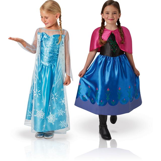 DISNEY - LA REINE DES NEIGES - Pack déguisement classique Elsa et Anna -  taille M ba1532df2b59