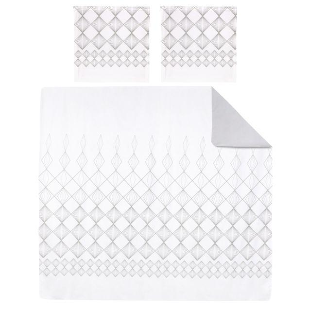 linnea parure de lit 260x240 cm 100 coton forever 3 pi ces multicolore nc pas cher achat. Black Bedroom Furniture Sets. Home Design Ideas
