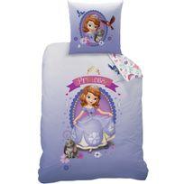 Princesse Sofia - Housse de couette et taie d'oreiller 140x200 cm Disney Sofia The Fst & Clover Polycoton