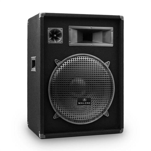 MALONE Enceinte sono PA DJ système 3 voies subwoofer 38cm 15