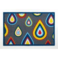 Contzen Design - Paillasson Pretty Drips absorbant bleu Lars Contzen