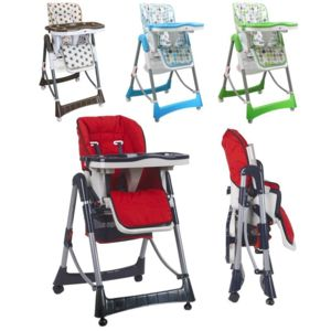 Monsieur bebe chaise haute b b pliable r glable hauteur for Chaise haute pliable