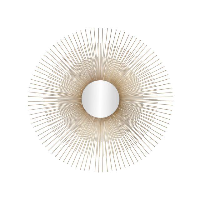 Andrea House Miroir soleil or