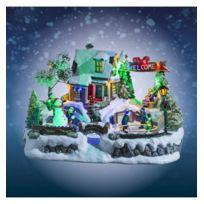 Jja - Village de Noël animé et lumineux intérieur