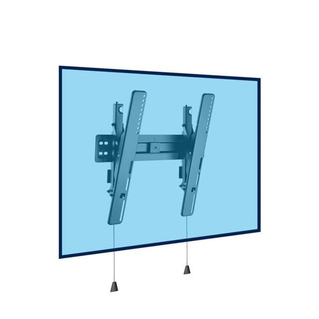 Kimex - Support mural inclinable ultra-plat pour écran Tv Lcd Led 32''-55'', Vesa 400x400 max