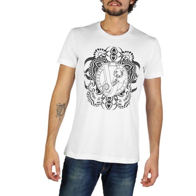 Buzzao - T-shirt noir et blanc Versace Jeans homme - pas cher Achat   Vente Tee  shirt homme - RueDuCommerce 0be36f1f355