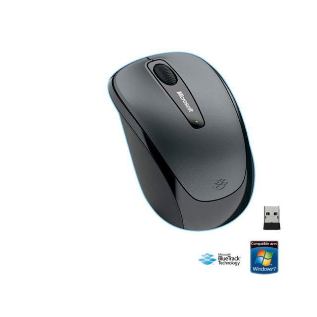 MICROSOFT Souris sans fil - Wireless Mobile Mouse 3500 - Grey MAC/WIN - GMF-00289 Un concentré de technologie à petit prix ! Fonctionne sur quasiment toutes les surfaces (sauf le verre et le miroir) : Technologie Bluetrack Ultramobile et pratique grâce au