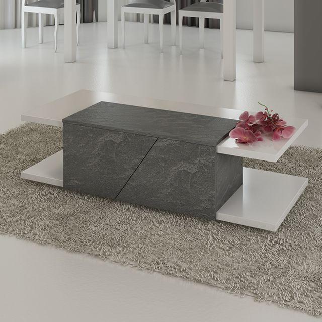 Kasalinea Table basse blanc laqué design Julia