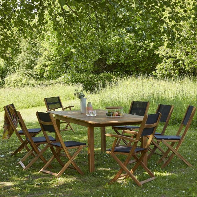 Bois Dessus Bois Dessous - Salon de jardin en bois d\'acacia Fsc ...