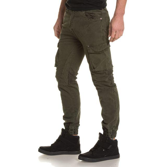 Cher Pour Cargo Pantalon Blz Homme Pas Elastique Jeans Kaki nOzZOx4qR8