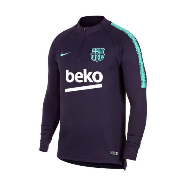 Nike - Maillot de football Fc Barcelona Dri-Fit Squad Drill - 894395 ... 2d95ba5f4a8d6