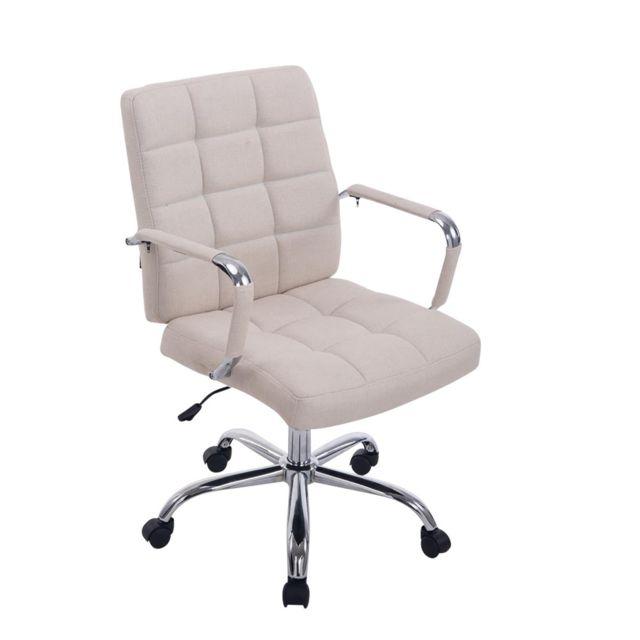Joli chaise de bureau, fauteuil de bureau Berlin en tissu