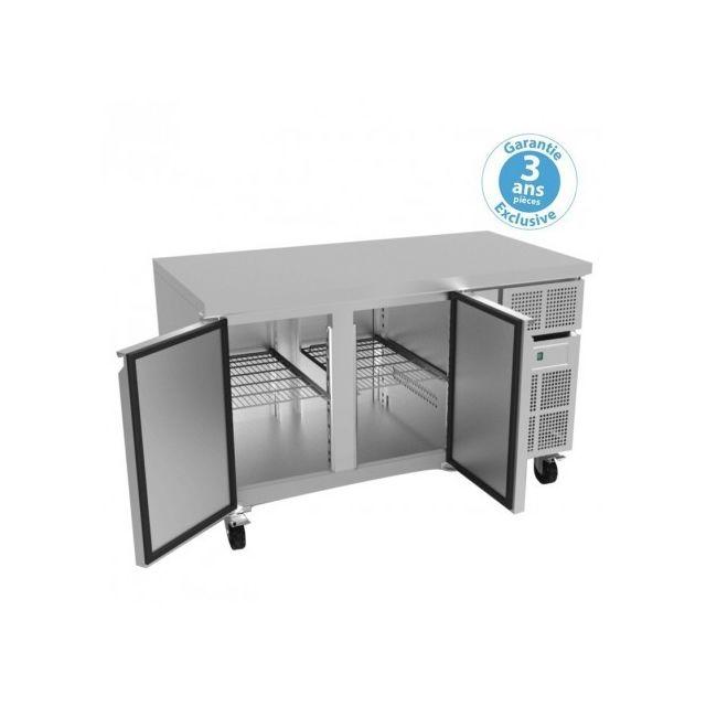 Furnotel Table réfrigérée négative 700 - 2 portes 313 litres avec dosseret 700