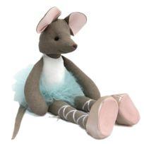 Sevira Kids - Poupée en tissu fait-main - Ballerine Souris - Tutu Bleu