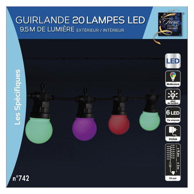 Multicolores 20 Extérieur 120 Ampoules Guirlande Led eIDH9WE2Y