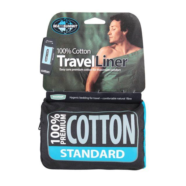 Sea To Summit Drap de coton Standard Drap rectangulaire pour sac de couchage, 100% coton Premium.Pour un maximum de confort et de durabilité.Coutures doubles retournées.Couleurs grand teint.Pré-rétréci.Lavable en machine.Coloris assortis...