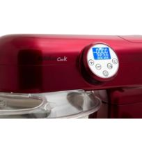 Kitchencook - Robot Multifonction Chauffant 1000W Rouge
