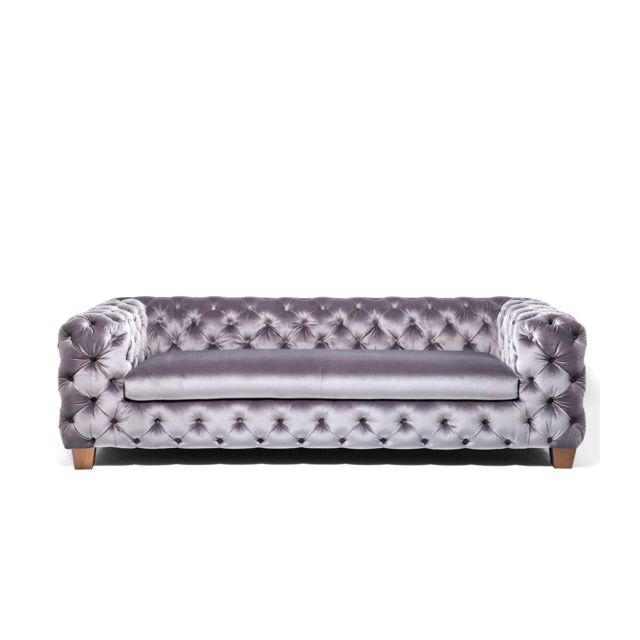 Karedesign Canapé My Desire velours 3 places gris Kare Design