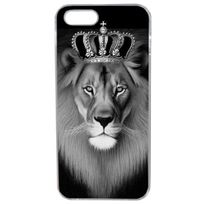 Lapinette - Coque Rigide Originale Lion Roi Noir Blanc Pour Apple Iphone 5 - 5s