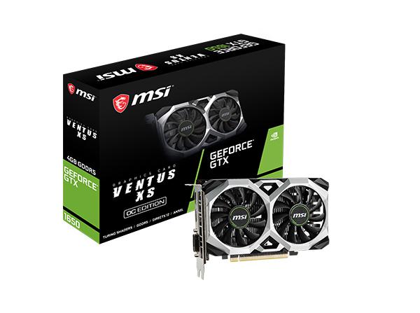 MSI GeForce GTX 1650 VENTUS XS OC - 4 Go