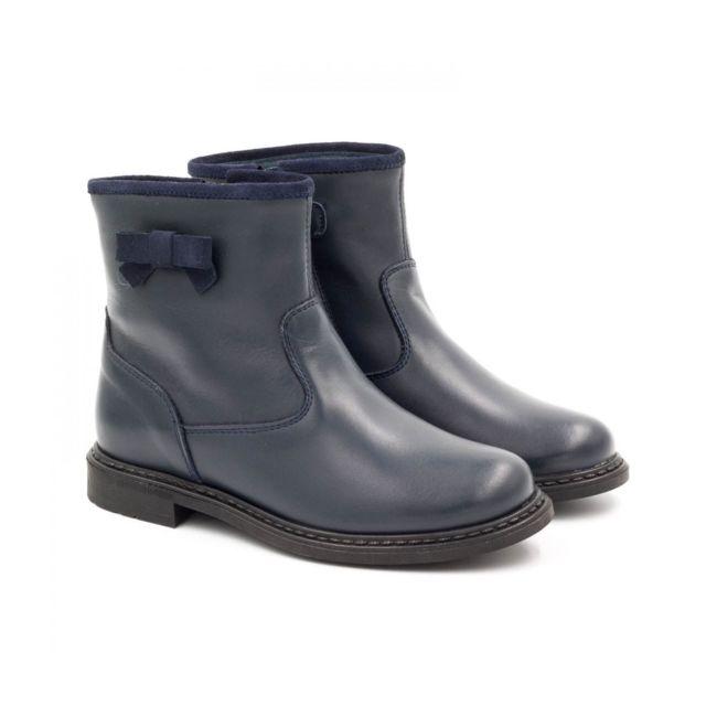 pas de taxe de vente produits de qualité prix le plus bas Boni Classic - Boni Lena - boots fille en cuir bleu marine ...