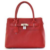 Oh My Bag - Sac à main femme cuir - Modèle Courcelle rouge clair