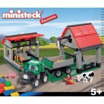 MINISTECK - Tracteur avec remorque et hangar Briques