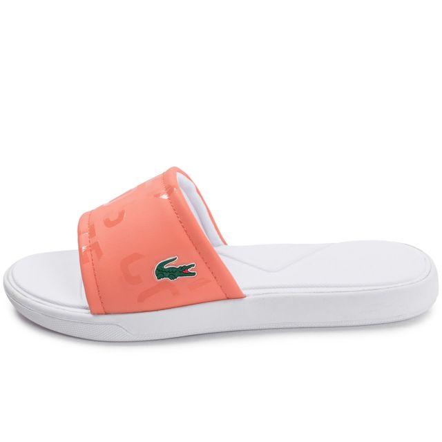 c6b4820638 Lacoste - L30 Slide W Sport Orange - pas cher Achat / Vente Sandales et  tongs femme - RueDuCommerce