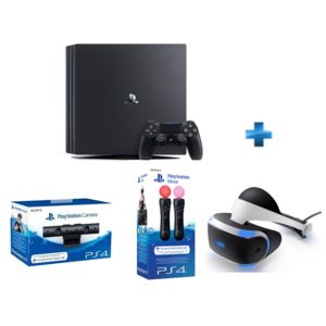 sony pack vr ps4 pro 1to psvr manettes move cam ra pas cher achat vente console. Black Bedroom Furniture Sets. Home Design Ideas