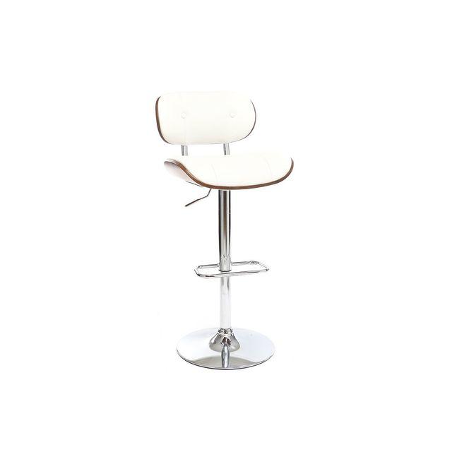 miliboo tabouret de bar design polyur thane blanc et. Black Bedroom Furniture Sets. Home Design Ideas