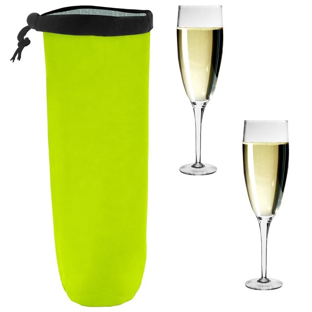 Promobo Sac Fraicheur Isotherme Pour Bouteille Spécial Champagne Orangeade Vert