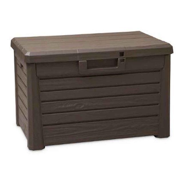paris prix coffre de rangement compact 73cm marron pas cher achat vente coffre de jardin. Black Bedroom Furniture Sets. Home Design Ideas