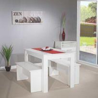 Générique - Table110cm+ 2BancsBlanc